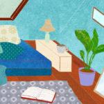 Web連載「屋根裏部屋がほしい!」のイラストです(2020年5月更新)